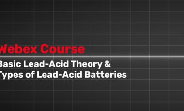 Basic Lead-Acid Theory and Types of Lead-Acid Batteries Course