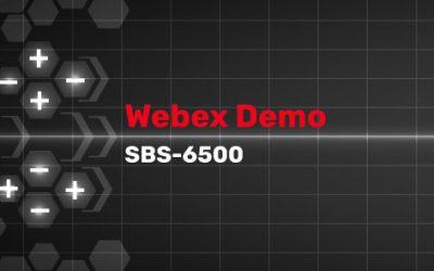 SBS-6500 Webinar