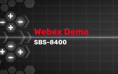 SBS-8400 Webinar