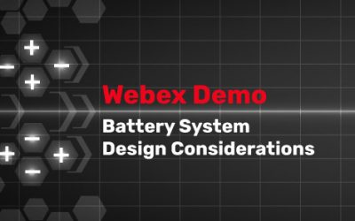 Battery System Design Considerations Webinar