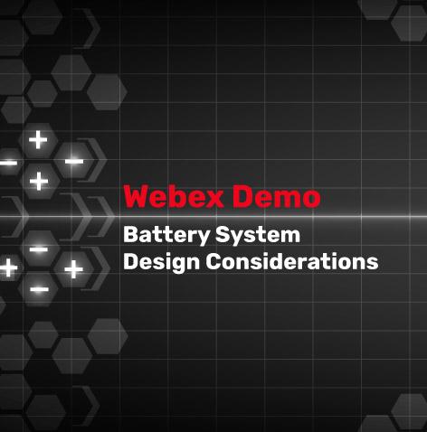 Battery System Design Webinar