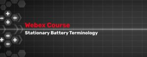 Stationary Battery Terminology Course
