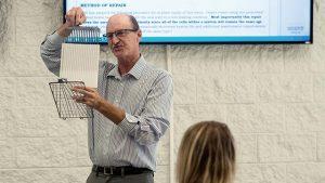 Wayne Eaton Teaching About Battery Plates